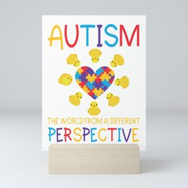 Autism the world from different perspective Mini Art Print