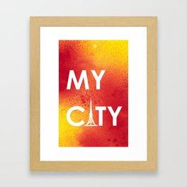 MyCity-Tokyo-RedYellowA Framed Art Print