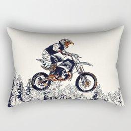 """""""High Flyer"""" Motocross Racer Rectangular Pillow"""