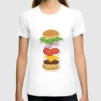 burger T-shirts featuring Burger by Daily Design
