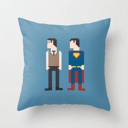 Man of Steel 8-Bit Throw Pillow