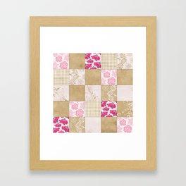 Spring Time - Patchwork Framed Art Print
