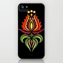 Fancy Mantle on Black iPhone Case