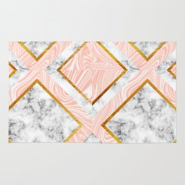 Gold and marble Rug