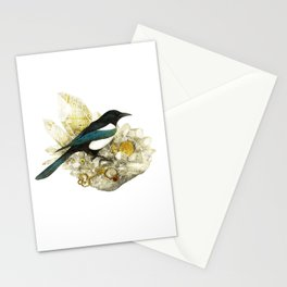 Magpie and Rutilated Quartz Stationery Cards