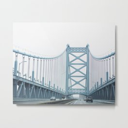 The Ben Franklin Bridge Metal Print