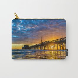 Low Angle Sunset at Newport Pier. Carry-All Pouch