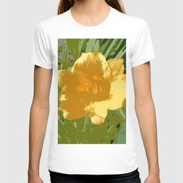 Yellow Daylily, spring flower, greenery T-shirt