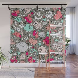 PLAYTIME_B Turquoise Wall Mural