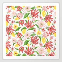 Island Garden Floral Art Print