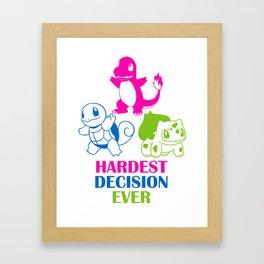 Hardest decision ever Framed Art Print
