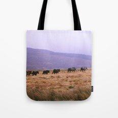 Horse Line Tote Bag