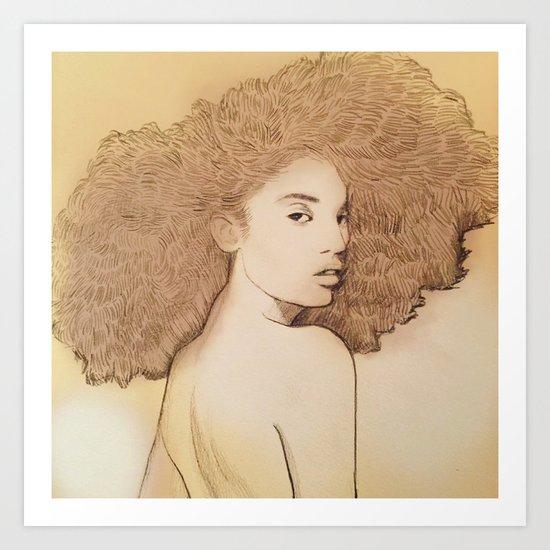 Afro Queen Art Print