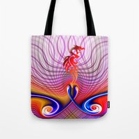 dragon Tote Bags featuring Dragon by haroulita