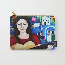 Violeta Parra and her guitar Carry-All Pouch
