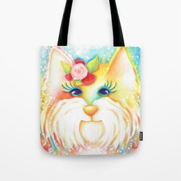 Girl Dog West Highland White Terrier Franny Original Art  Tote Bag