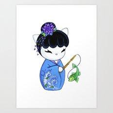 Dragon Fish Print Art Print