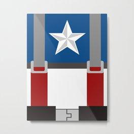 Cap. America First Avenger - Minimalist Metal Print