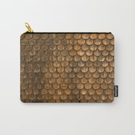 Weathered wall of wooden shingles Carry-All Pouch