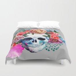 Flower Skull Duvet Cover