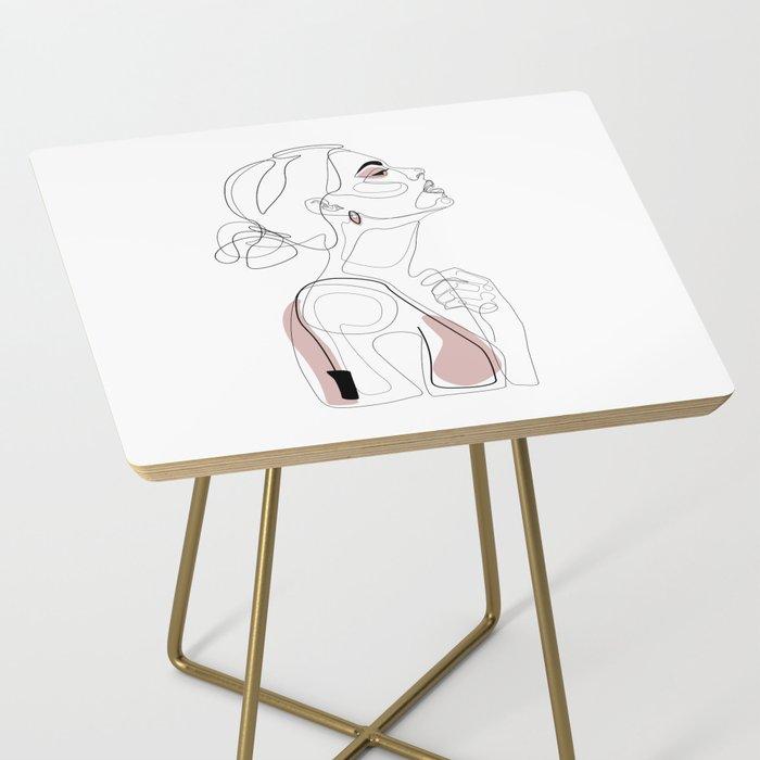 Blush Beauty Side Table