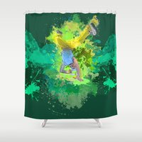 hiphop Shower Curtains featuring HipHop Forever by Frauste