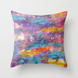 Colourful Abstract Background Throw Pillow