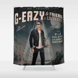 g eazy bay to universe 2019 dedekyo Shower Curtain