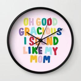 Good Gracious Wall Clock