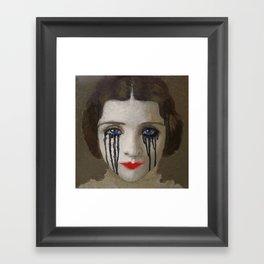 Crying woman Framed Art Print
