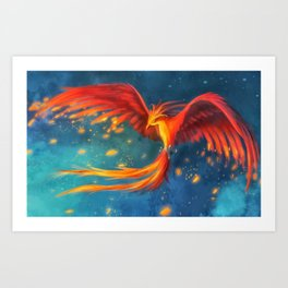 Beautiful phoenix Art Print