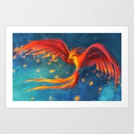 Beautiful phoenix Art Print