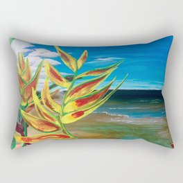 Heliconia Tropical Parrot Plant Take Me There Rectangular Pillow