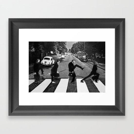 Silly Road Framed Art Print