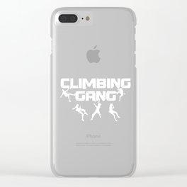 Rock Climbing Mountaineer Hiking Outdoor Activity Adventurer Climbing Gang Gifts Clear iPhone Case