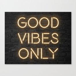 Neon Good Vibes - Orange Canvas Print