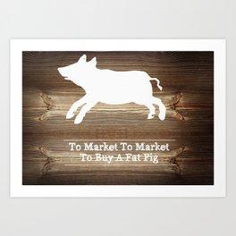 To Market Art Print