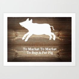 To Market Art Print