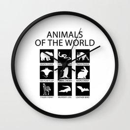 RARE ANIMALS OF THE WORLD Wall Clock