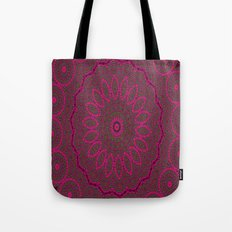 Lovely Healing Mandalas in Brilliant Colors: Plum, Copper, and Pink Tote Bag