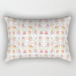 Russian doll and flowers pattern Rectangular Pillow