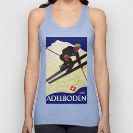 Vintage Adelboden Switzerland - Ski Jump Unisex Tank Top