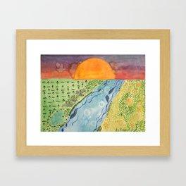 Ecosystems of East Texas Framed Art Print