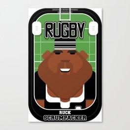 Rugby Black - Ruck Scrumpacker - Hayes version Canvas Print