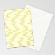 Yellow Lines dancing striped Stationery Cards