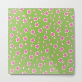 Sakura Pattern_I Metal Print