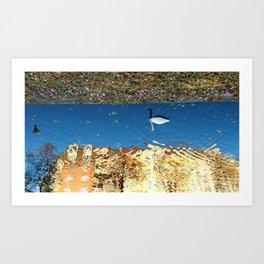 Reflector Swan I - Inverse Art Print