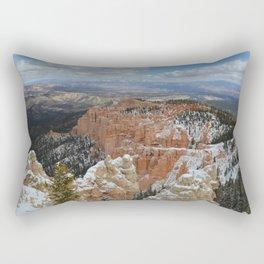 Snow in Bryce Canyon Utah Rectangular Pillow
