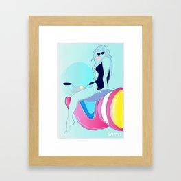 The Hovergirl Framed Art Print