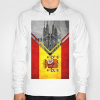 spain Hoodies featuring Flags - Spain by Ale Ibanez